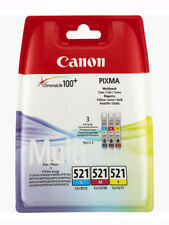 Genuine Canon CLI521 Multi Pack Ink jet Print Cartridges, CLI-521C CLI-521M C...