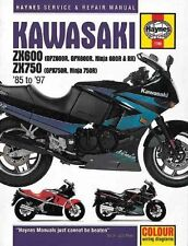 Kawasaki ZX600 and 750 Fours (85-97) Haynes  Repair Manual by J. H. Haynes,