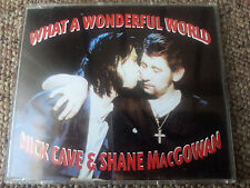 Nick Cave & Shane MacGowan - What A Wonderful World CD Single - 1992 UK 3 track