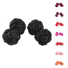 Silk Knot Cufflinks Classic Rope Ball Knot Cuff Links Silk Knots Cuff Link BH