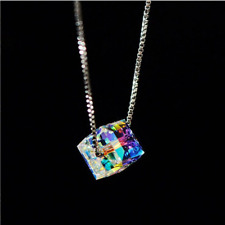 """Aurora Borealis Necklace Made with Swarovski Crystals 18"""" with 1/2"""" extender"""