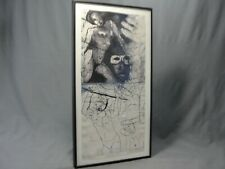 """Original Aquatint Etching Ghita Caiserman Roth """"Carnaval"""" Signed Numbered Listed"""