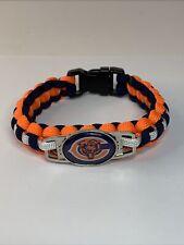 *New* Chicago Bears Nfl Team Logo Paracord Survivor Bracelet