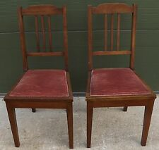 Pair of Antique Chamberlain, King & Jones Walnut Dining / Occasional Chairs