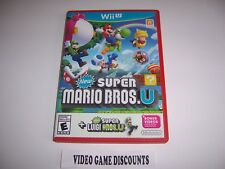 Original Box Case for Nintendo Wiiu Wii U New Super Mario Bros U + Super Luigi U