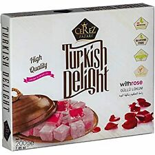 Turkish Delight with Fantastic Rose Flavor (No Nuts) Sweet Confectionery Luxury