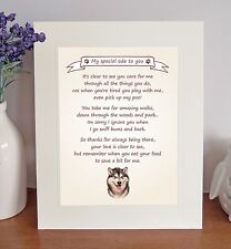 Boxer Brindle /'I Love You Dad/' Coaster Fun Poem Novelty Gift FROM THE DOG