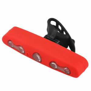 Rear Tail Beam 5 LED, Red Rubber Silicone Casing, Five Leds Bike Light Lamp