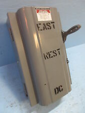 Westinghouse Xu 222 Double Throw Safety Switch 60 Amp 250v Dc 1605717 Transfer