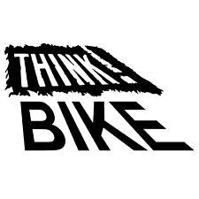 Think Bike BLACK Car Van Caution Bumper Window JDM Vinyl Decal Sticker
