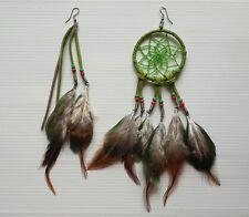 New Beautiful Feather Dream Catcher Earring  Bohemian Handmade
