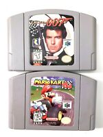 LOT of 2x Nintendo N64 Games - 007 Goldeneye & Mario Kart 64 Tested + Authentic!