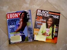 2 Magazines Ebony July 2008 Serena Williams Venus Black Enterprise 2012 Magazine