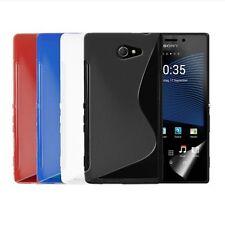 Custodia WAVE S Line per Sony Xperia M2 S50H Cover Morbida Gomma Gel Silicone