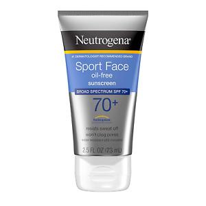 Neutrogena Sport Face Sunscreen SPF 70+ OilFree Facial Sunscreen Lotion with Bro