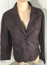 Tommy Bahama Indigo Palms Chinos Womens XL Jacket Brown Stripe