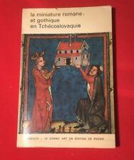 MINIATURE ROMANE GOTHIQUE TCHÉCOSLOVAQUIE UNESCO ART POCHE BON ÉTAT LIVRE