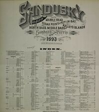 Sandusky, Ohio Sanborn Maps made in 1893 with 46 maps in full color