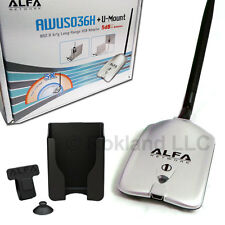 USED Alfa Networks 1000mW USB WiFi ADAPTER AWUSO36H v5 GENUINE Hologram AWUS036H