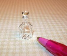 Miniature Small Clear Mouthblown Glass Whiskey Bottle/Decanter #1 DOLLHOUSE 1/12