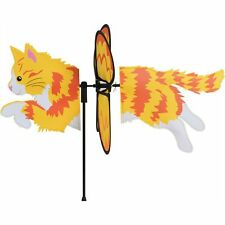 """Long Hair Ginger Cat 19"""" Whirligig Petite Staked Wind Spinner 10- Pr 25175"""