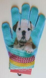 1 NWT Women's Bulldog puppy winter gloves!!