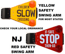 Ice Cream Truck Safety Swing Arm - Yellow Or Red - Verify Ordinance