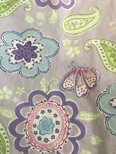 Pottery Barn Kids Samantha Paisley Floral Butterfly Duvet Cover TWIN Purple