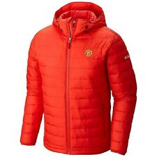 COLUMBIA POWDER LITE HOODED JACKET RED MANCHESTER UNITED SIZE M NEW WITH TAGS