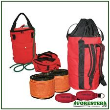 Arborist Throw Bag Kit, 2 Throw Lines, 2 Throw Bags, Rope Bag, By Forester