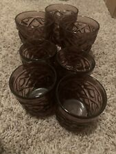 Vintage Purple Glassware Set Of 7. Great Condition