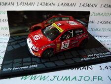 coche 1/43 IXO Rallye ITALIA FIAT Punto S1600 Baldacci San Remo 2003