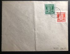 1942 Guernsey England Blue banknote paper #N4 Stamp Cover Domestic Used