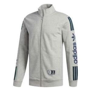 Men Adidas Quarzo Fleece Zip Jacket - Grey - CE1835