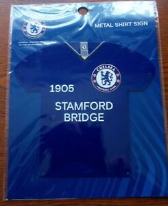 Official Chelsea FC Metal 3D Shirt Sign (Stamford Bridge) - FREE POSTAGE!