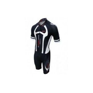 cycling Man Skinsuit  with high density italian pad, reflector logo