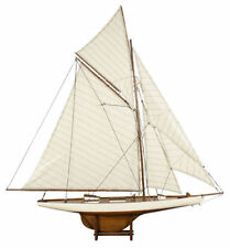 "America's Cup Columbia J Class Yacht 45"" Built Wood Model Sailboat Assembled"