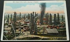 Postcard Signal Hill California Showing a Gusher Vintage