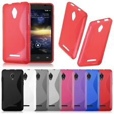 S Line Wave Silicone Gel Back Case Cover For Various Alcatel Phones