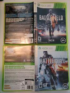 Battlefield 3 + Battlefield 4 Combo - DICE EA - XBOX 360 CIB COMPLETE 🇨🇦