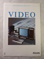 altes Prospekt alter Katalog Philips Video Katalog 1986 1987 Videorecorder TV