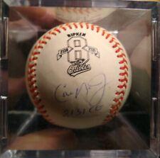 Base ball Cal Ripken Autographed Baseball Certified Number 8