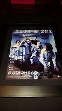 Radiohead High & Dry Rare Original Radio Promo Poster Ad Framed! #1