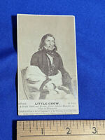 1862 Sioux Chief Little Crow Minnesota  Whitney CDV Rare Early Photo Card Antiqu
