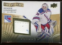 2014-15 Upper Deck Trilogy Tryptichs hl1 Henrik Lundqvist Blocker 251/300