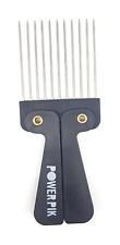 "American Dream Folding Afro Hair Pik Comb ""PowerPik"" - Black with Metal Teeth"