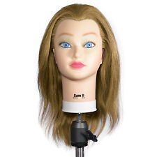 NEW Celebrity Sam II Manikin BLONDE Cosmetology Head 100% Human Hair S153-BL