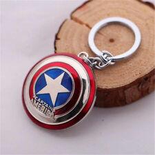 Heros Comics Super Hero Captain America Shield The Avengers KeyRing Keychain ♫