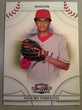 Rangers STOLMY PIMENTEL 2008 Donruss Threads Rookie Card #88 RC Pirates Red Sox