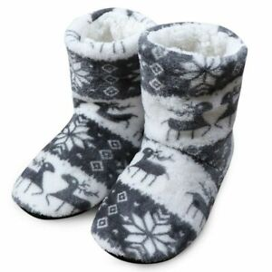 Indoor Warm Winter Shoes Soft House Slippers Plush Slip on Fur Women Boots Gift